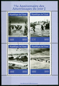 Chad-2019-CTO-WWII-WW2-D-Day-75th-Anniv-4v-M-S-World-War-II-Military-Stamps