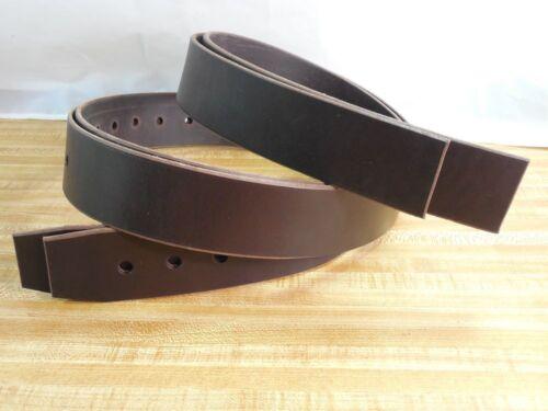 Nouveau Amish Handmade Genuine USA Cuir 2 pouces étrier bretelles -- marron
