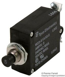 TE-CONNECTIVITY-W23-X1A1G-5-CIRCUIT-BREAKER-THERMAL-1P-250V-5A