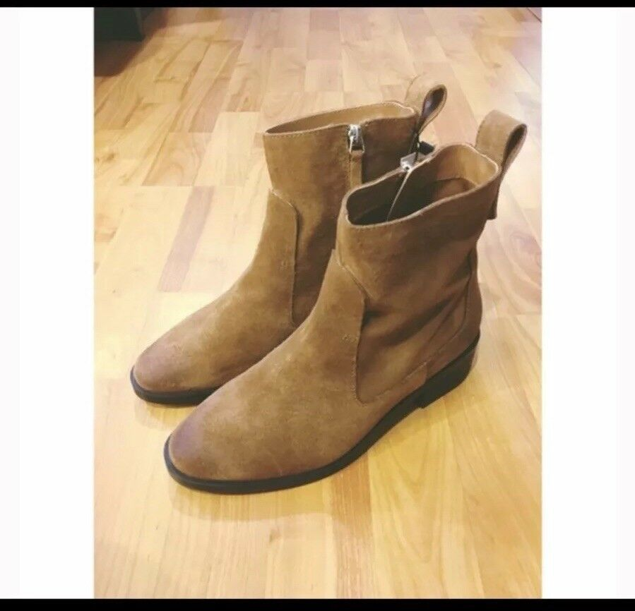 6faee74ba9e Zara Real Leather Boots Boots Boots Size 5 - New With Tags 2e3267 ...