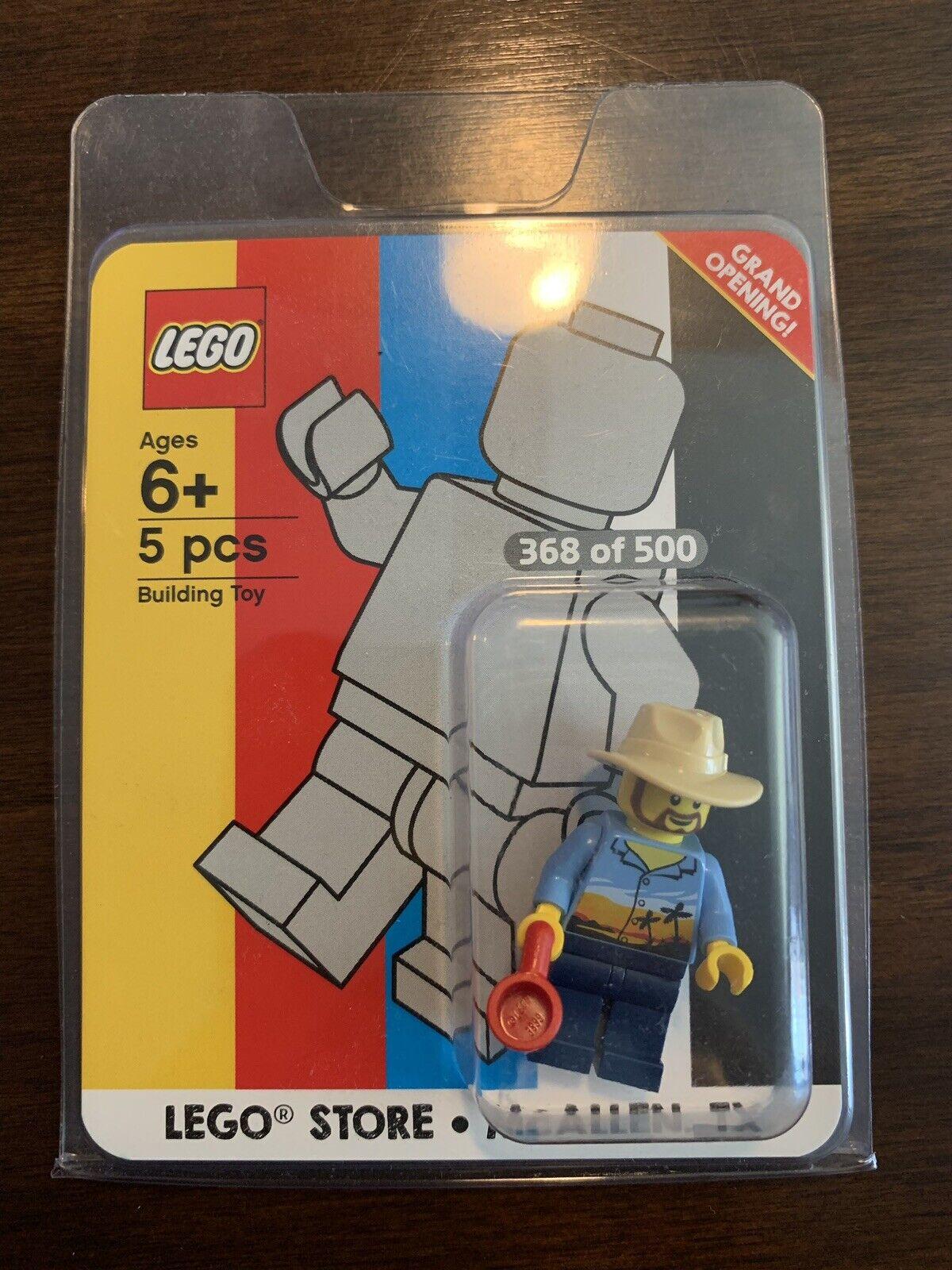 Minifigura LEGO Ultra Raro inauguración Mcallen Tx 368 de 500