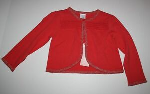aa3af64d46c7 Details about New Gymboree Scallop Red Orange Cardigan Sweater Size 18-24M  NWT Forest Sprouts