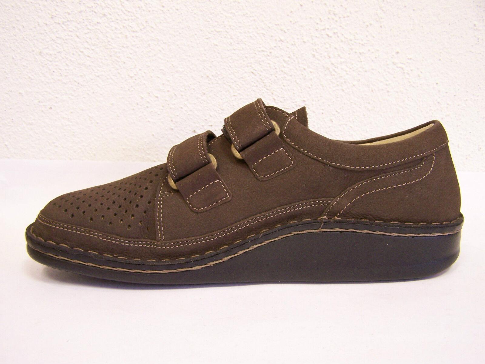 Finn Finn Finn Comfort Schuhe mit Lederfutter Modell Tanger braun Kaffee & Klettverschluß bab9b0