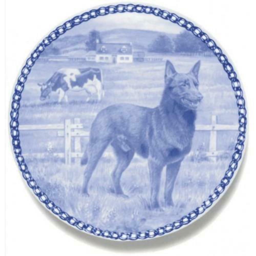 Kelpie - Dog Plate made in Denmark from the finest European Porcelain