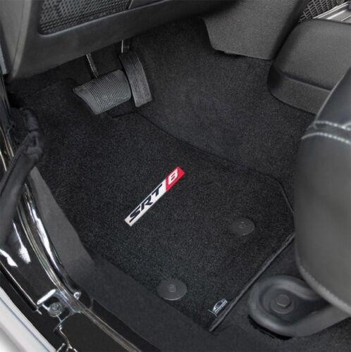 2005-2008 Jeep Grand Cherokee SRT 8 Black Carpet Front Floor Mats with Logo