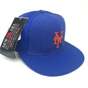 Vintage-New-Era-York-Ny-Mets-5950-pro-Modelo-Gorra-Ajustada-Azul-Naranja-Logo