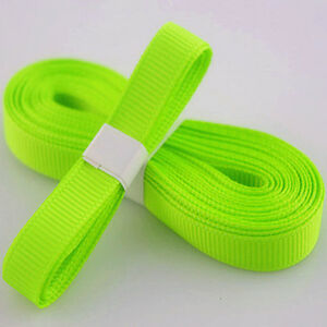 Fluorescent-colors-5yds-3-8-10-mm-Solid-Grosgrain-Ribbon-Hair-Bows-Ribbion