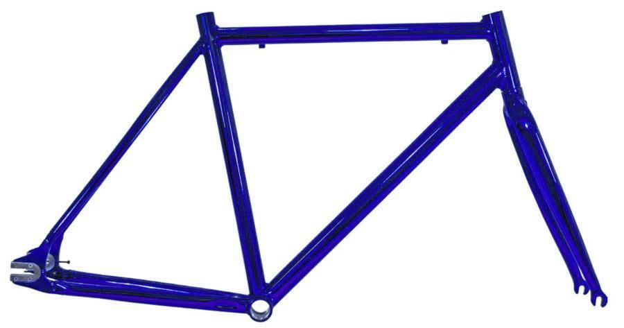 BRN Bernardi Telaio  forcella scatto fisso fixed alluminio cromovelato 56 blu S