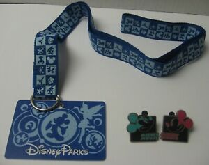 Disney-Parks-Trading-Lanyard-c2012-Mickey-Mouse-Pins-Blue-FREE-Shipping