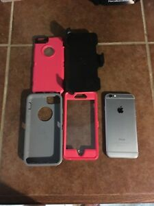 Details about Iphone 6 32gb AT&T Straight talk w/New Otter Box Case  (prepaid)