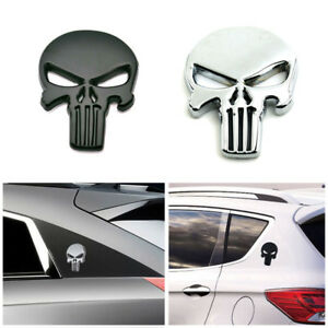 3D-Metal-Emblem-Badge-Decal-Sticker-The-Punisher-Skull-Car-Motorcycle-Waterproof