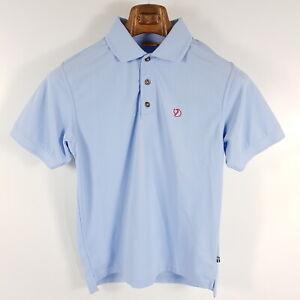 Fjaellraeven-Poloshirt-Crowley-Pique-Herren-S-Blau-Kurzarm-Shirt