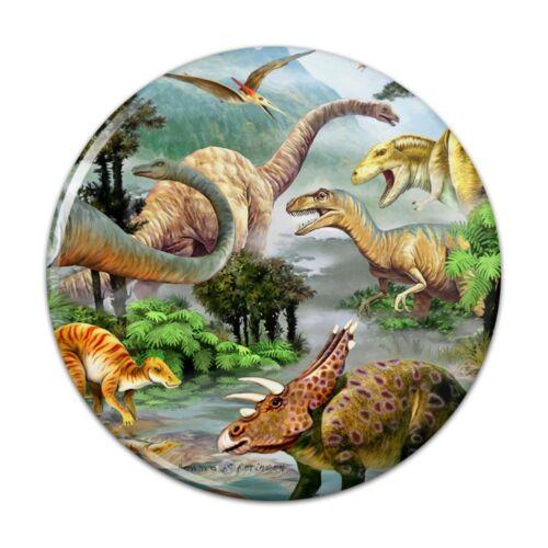 Dinosaur Jurassic Dinoscape Kitchen Refrigerator Locker Button Magnet