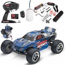 Traxxas 45104-1 1/10 Nitro Sport 2WD Stadium Truck Blue RTR w/ TQ / TRX Pro.15