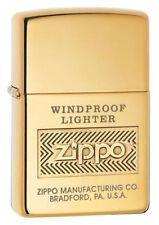 "Zippo ""Windproof"" High Polish Brass Finish Lighter, 28145"