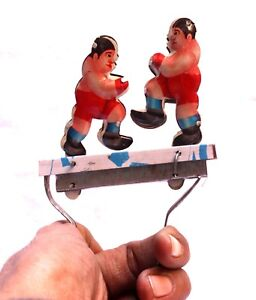 Indian Handicrafts Iron Tin Metal Boxing Fighting Mans Toy Statue