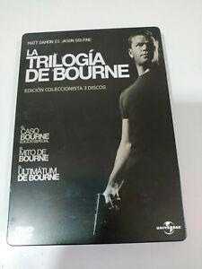 JASON-BOURNE-LA-TRILOGIA-3-X-DVD-MATT-DAMON-STEELBOOK-ESPANOL-ENGLISH