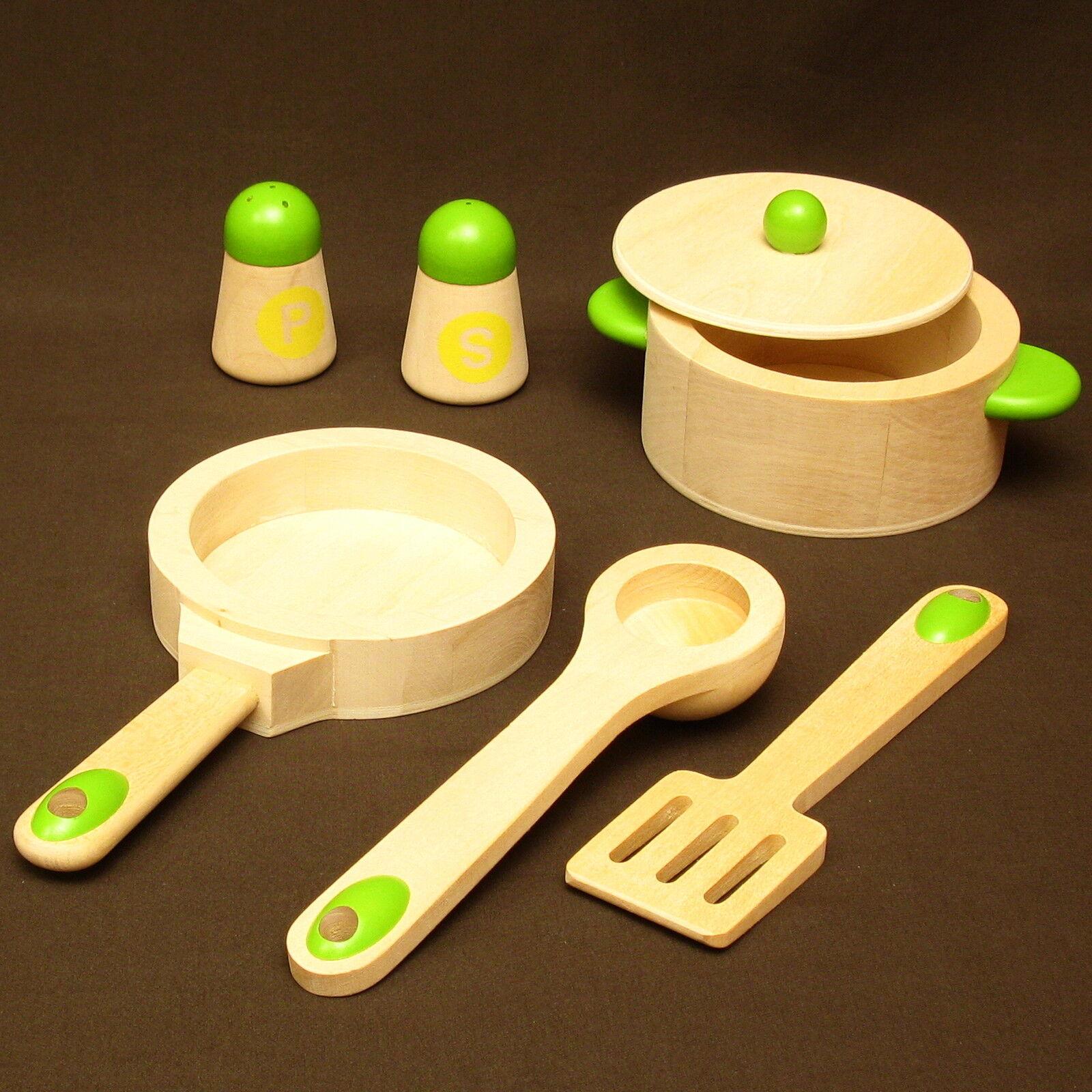 25-tlg Kinderküche m.Herd Ofen Spüle Schrank Schrank Schrank Regal +Zub. alles aus Holz FSC EN71 fe53f4