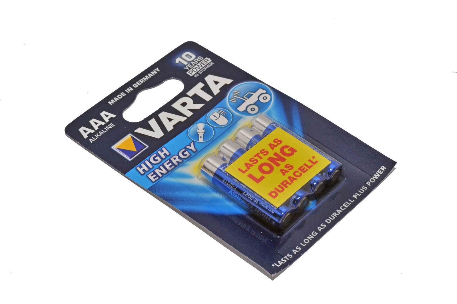 Varta alkaline battery aaa/lr03 1.5 v high energy 4