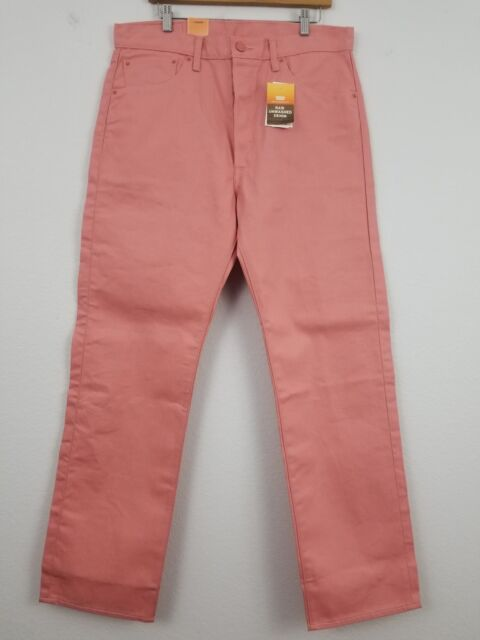 9a562862e11 Levi's 501 Jeans Shrink To Fit Men's 35 X 32 Straight Button Fly Pink Water  NWT
