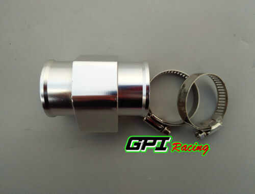 36mm Water Temp Temperature Joint Pipe Sensor Gauge Radiator Hose Adapter SILVER