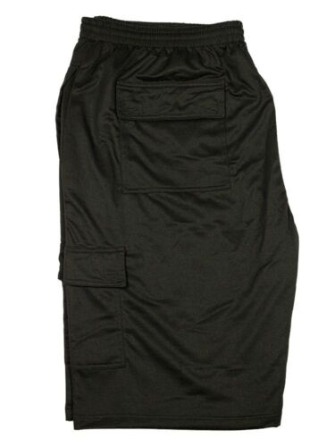 Mens Big King Size New Cargo Combat Shorts Elasticated Waist Sizes 2XL To 8XL