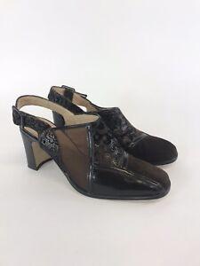 Gardone-Brown-Leather-Slingback-Court-High-Heels-Shoes-Sz-EU39-UK6-NEW-Fast-Ship