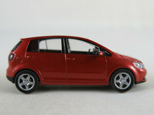 Wiking-VW-5M0-099-301-A3X-VW-Golf-Plus-2004-in-sunsetred-metallic-1-87-H0