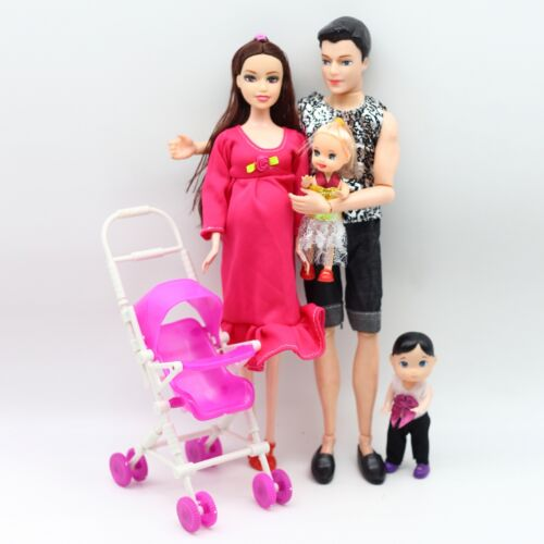 New Educational Real Pregnant Doll Mom Dad Kelly Baby Carriage Girls Toys Best