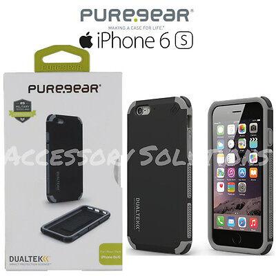 "PureGear Apple iPhone 6S (4.7"") Dualtek Extreme Impact Shock Case Cover Black"