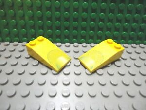 Lego 4x Tile Round 2 x 2 with Yellow /'Z/' Zurg Logo Pattern NEW