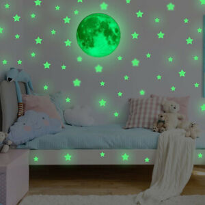 Details About 39pc Glow In The Dark Stars Wall Sticker Kids Nursery Bedroom Room Ceiling Decor