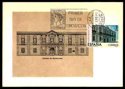 Brillant Spain Mk 1975 Hispanidad Uruguay Montevideo Rathaus Maximumkarte Mc Cm Df63 Der Preis Bleibt Stabil Briefmarken