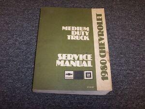 1980 chevy kodiak p40 c50 b60 c60 c70 w6 w7 truck shop service rh ebay com Chevy C60 Chevy C40