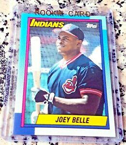 ALBERT JOEY BELLE 1990 Topps Rookie Card RC Cleveland Indians 381 HRs .295 BA $$