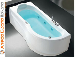 Vasca Da Bagno Con Pannelli : Vasca idromassaggio hafro gamma 170x70 76 ad angolo con telaio e