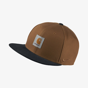 bb3f1eec4 Details about Nike x Carhartt WIP NRG Pro Cap Hat Work In Progress Ale  Brown Dark AV4781-277