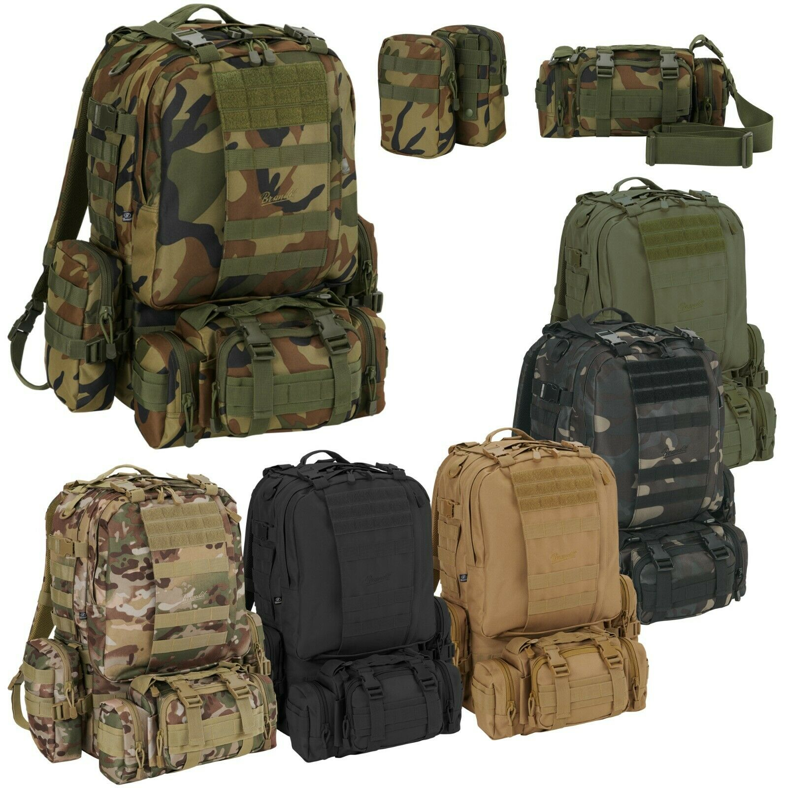 Brandit US Cooper Modular Pack Molle Armeerucksack Army Rucksack inkl. 3 Pouches