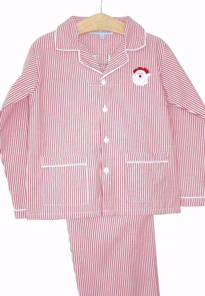 Sweet Dreams Green Gingham Checked Christmas Boys Pajamas 9 Months