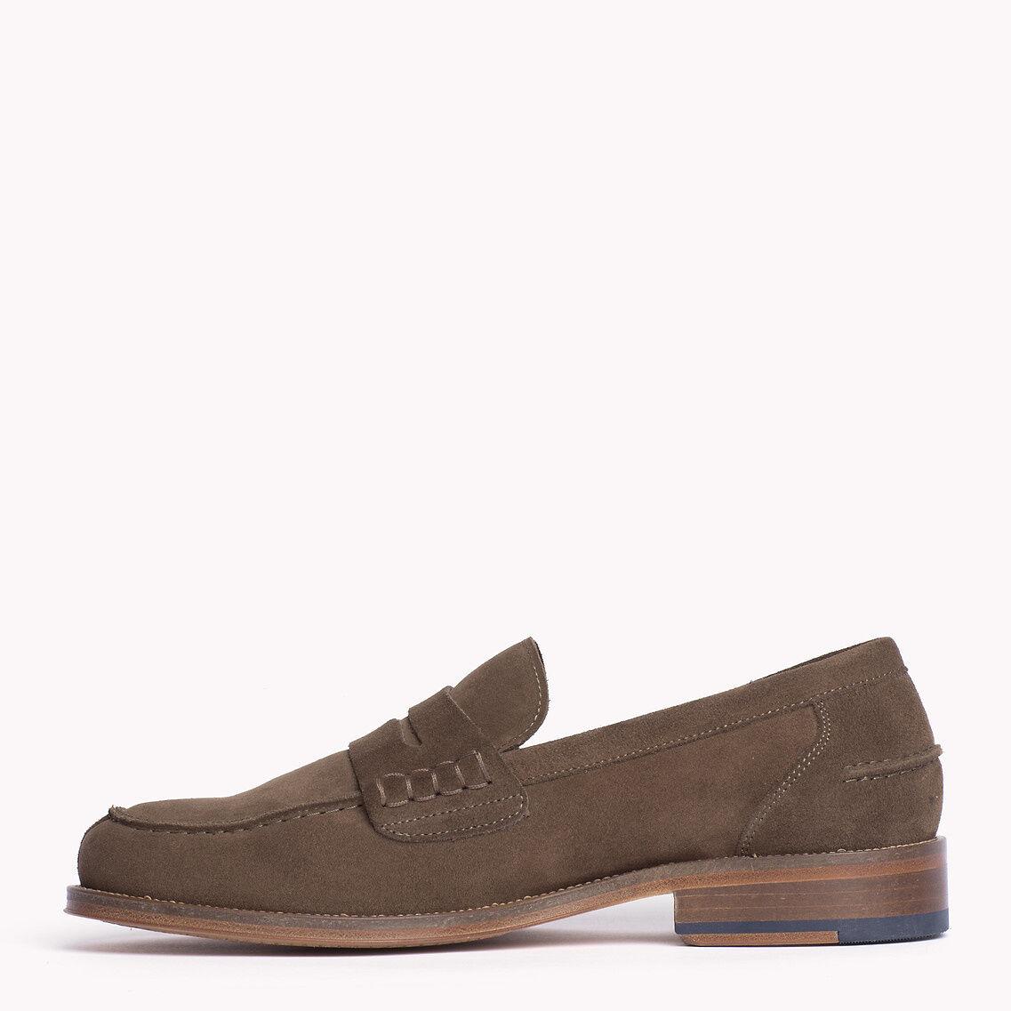 TOMMY HILFIGER Herren NEU Schuhe Wildleder-Loafer Größe 41 NEU Herren fdc89f