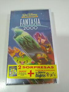 Fantasia-2000-los-Clasicos-Walt-Disney-VHS-Cinta-Tape-Espanol-Nueva