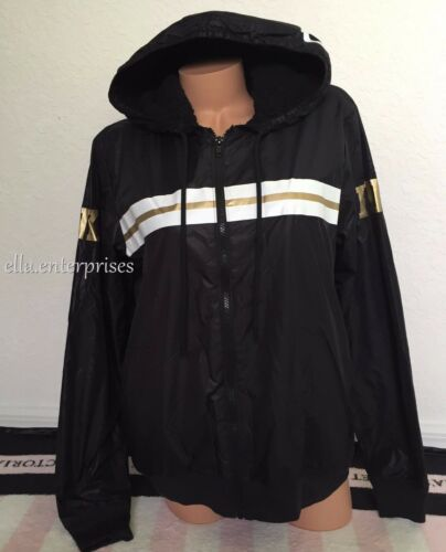 White Anorak Jacket Zip Black Xs Sherpa Victoria's Up Lined Secret s Pink Gold vqf4TwY1I