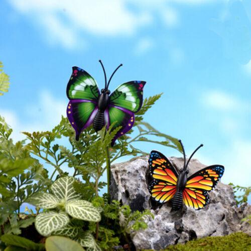 4X Butterfly Miniature Fairy Garden Ornament Plant Pot Craft Dollhouse Decor KW