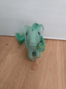 Vintage 1983 My Little Pony G1 MEDLEY Green Pegasus Pony Music Notes Curly Hair