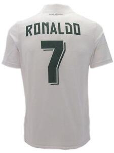 Polo-calcio-Cristiano-Ronaldo-CR7-Ufficiale-Real-Madrid-Bianco