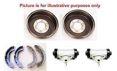 Rear Brake Shoes /& Rear Brake Drums Set For Toyota Hilux MK4//MK5 2.4//2.5 97-05