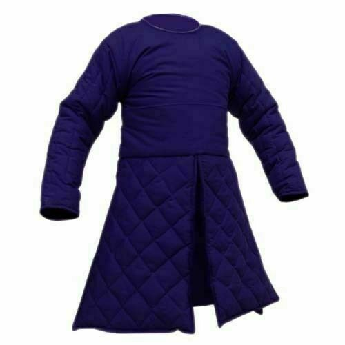 Medieval Renaissance Full Sleeves Gambeson in Blue SCA-LARP