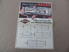 Prospekt  Melas Klarsichtscheiben Max Schlecht Dresden