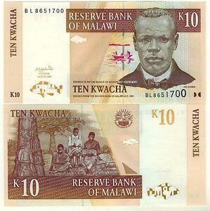 MALAWI-Billet-neuf-de-10-KWACHA-Pick51a-scene-de-lectures-PECHEURS-2004