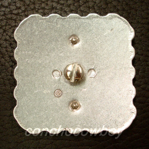 """WESTERN HORSE SADDLE HEADSTALL TACK STAR BERRY SQUARE CONCHO 2 1//4/"""" screw back"""